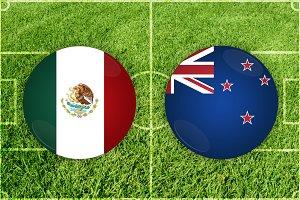 Mexico vs New Zealand football match