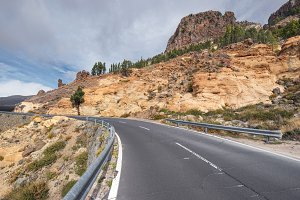 Mountain Road in Teide park