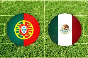 Portugal vs Mexico football match