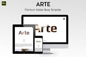 Arte - Minimalistic Adobe Muse Theme