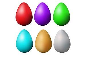 Easter eggs. Vector set