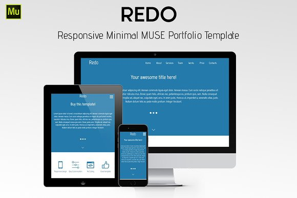 redo adobe muse template website templates creative market