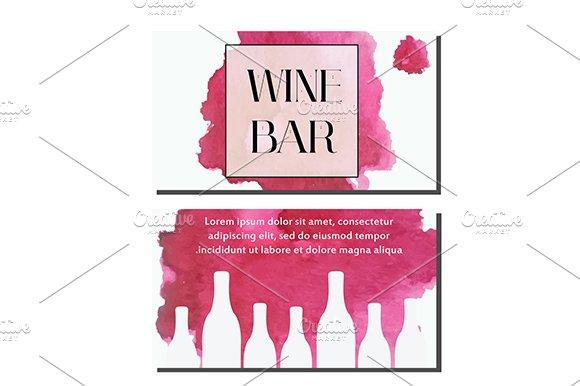 Wine Bar Shop Business Card Eps