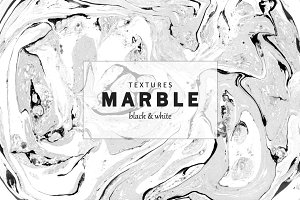 Marble textures. Black and white