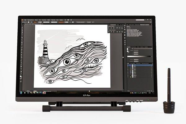 3D Electronics - 3D Model «Xp Pen Artist 22 HD»
