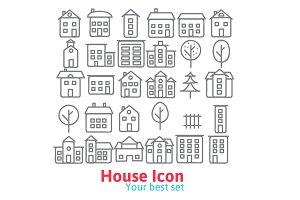 Line House Icon