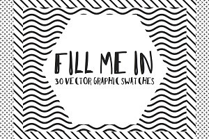 Fill Me In 30 Graphic AI Swatches