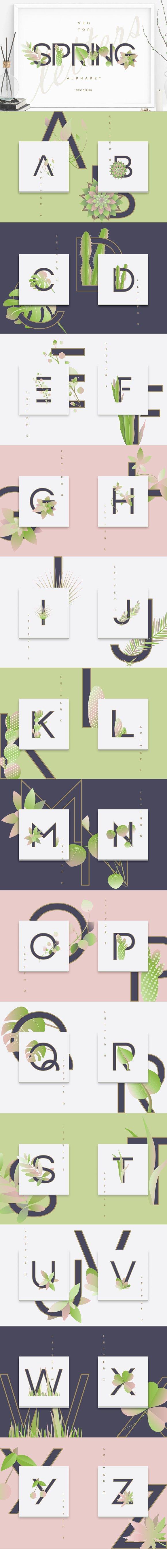Spring Alphabet Letters