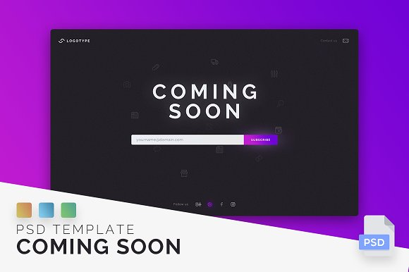 Coming Soon Page PSD