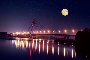 Moscow bridge in Kiev