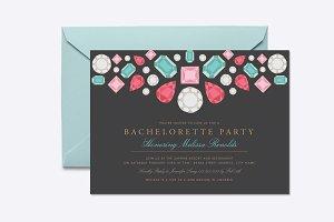 Gems Bachelorette Party Invite