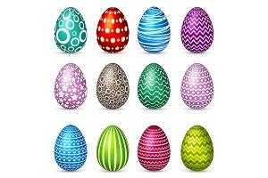 Easter eggs set. Spring. Holidays in April. Gift. Seasonal celebration.