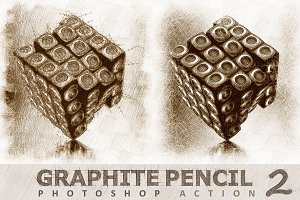 Graphite Pencil 2 Photoshop Actions