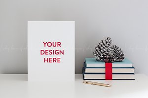 Christmas Stationery Page Mockup