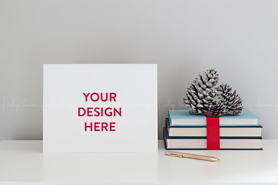 Christmas Stationery Paper Mockup in Print Mockups - product preview 8