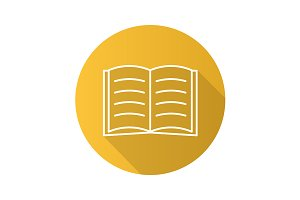 Open book icon. Vector