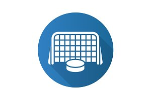 Hockey goal icon. Vector