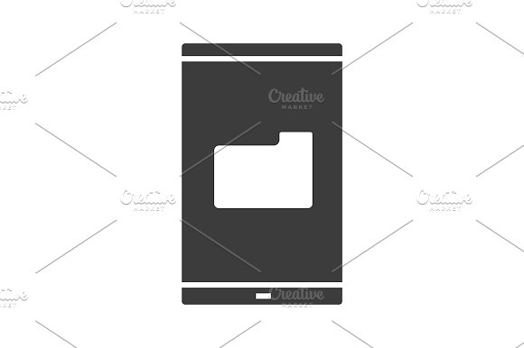 Smartphone File Manager Vector