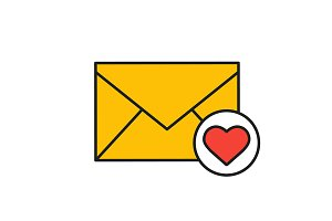 Love letter icon. Vector