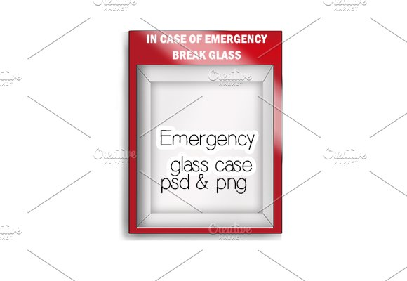 Mockup Emergency Glass Red Case