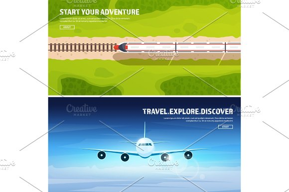 Train Railwa Station Travel And Tourism Airplane Aviation Summer Holidays Vacation Plane Landing Flight Air Travelling Sky Aerial Background Journey