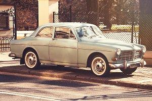 Retro car coupe