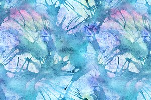 Watercolor splash seamless pattern