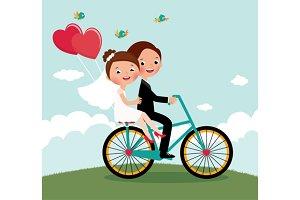 Newlyweds  bike