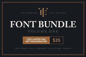 ETF Font Bundle - 21 fonts