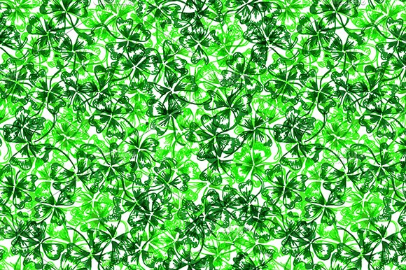 Clover Shamrock Seamless Pattern