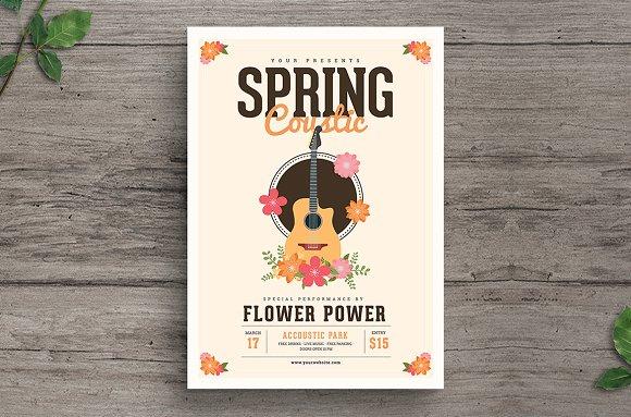 Spring Acoustic Flyer