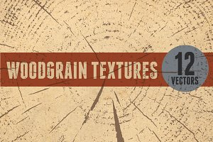 12 Vector Wood Grain Textures