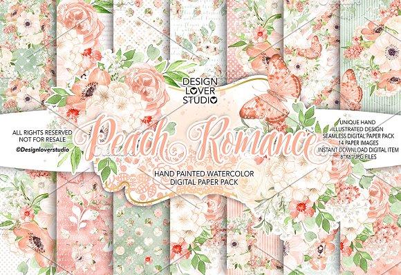 Watercolor Peach Romance DP Pack