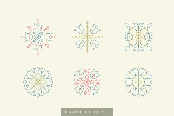 6 Mandalas With Design Elements