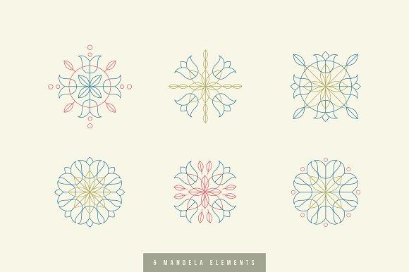 6 Mandalas With Design Elements