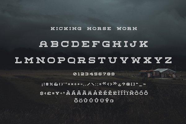 Best Kicking Horse - 4 Font Family Vector