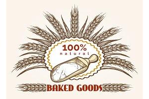 Bakery goods vintage emblem