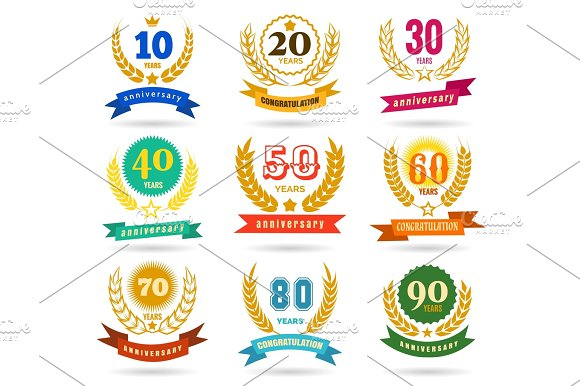 Anniversary Numbers Design Collection