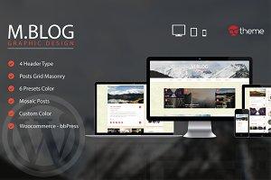 MBlog - Modern Premium Blog Wordpres