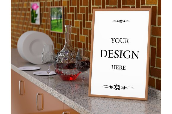Kitchen with a wine decanter