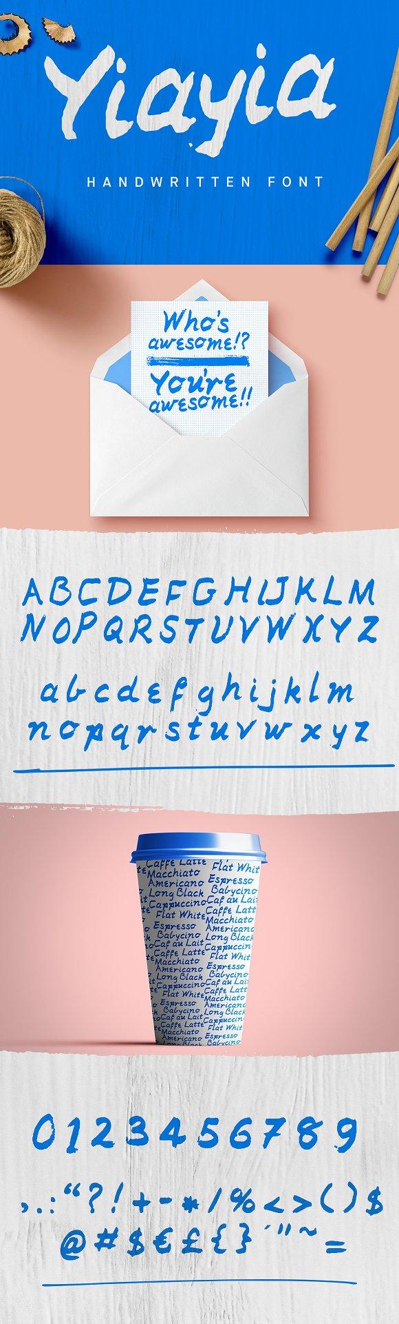 Yiayia Handwritten Font