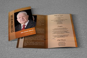 Funeral Program Template-T701