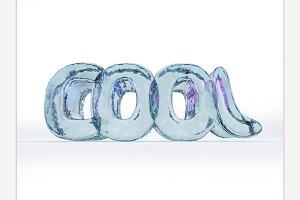 Word COOL made from ice