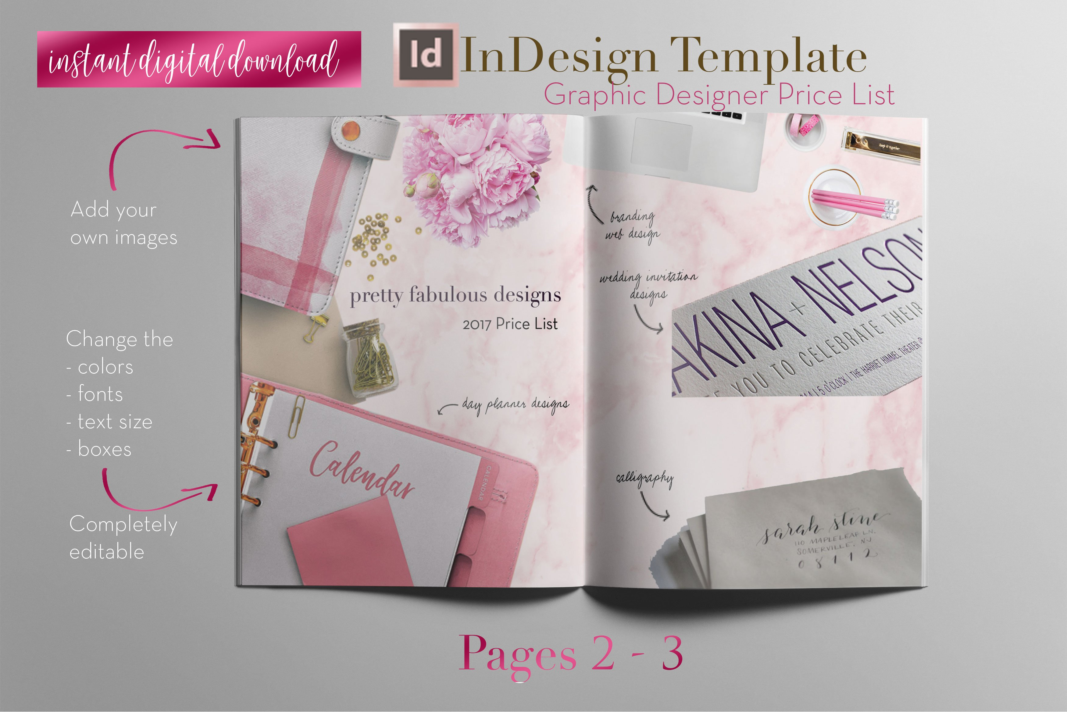 Price list a indesign template brochure templates for Price list brochure template
