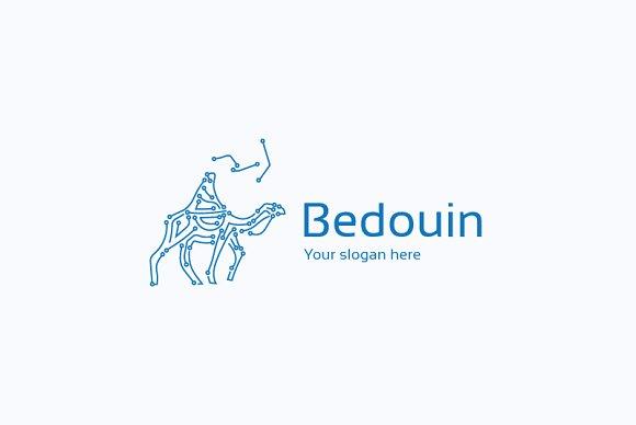 Bedouin on camel logo