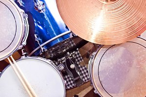 Drums. Music and sound concept.