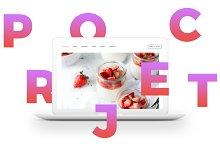 MacBook™ Mockup w/ Scattered Letters