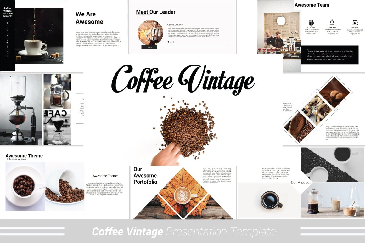 Coffee vintage powerpoint template presentation templates coffee vintage powerpoint template presentation templates creative market toneelgroepblik Images