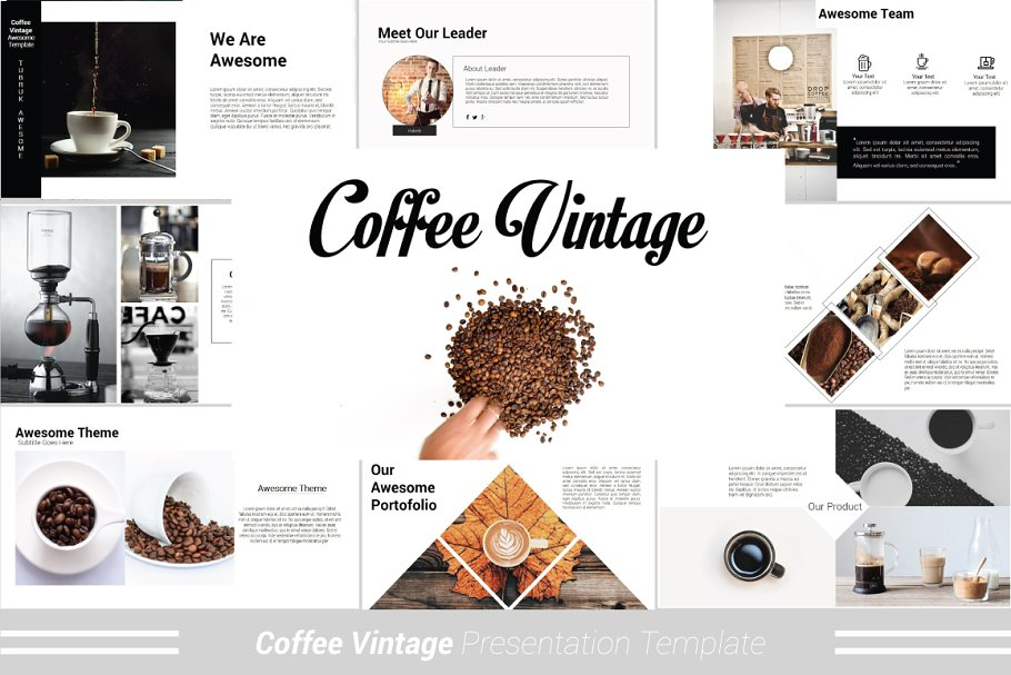 Coffee Vintage Powerpoint Template Powerpoint Templates