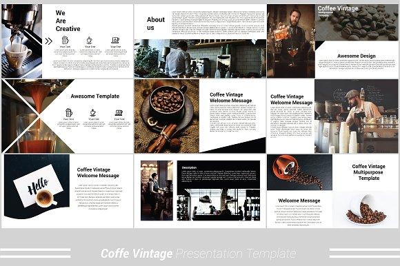 Coffee Vintage Powerpoint Template ~ Presentation Templates ...